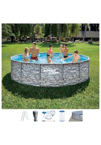 SummerWaves Rundpool »Elite Frame«, ØxH: 427x107 cm kaufen