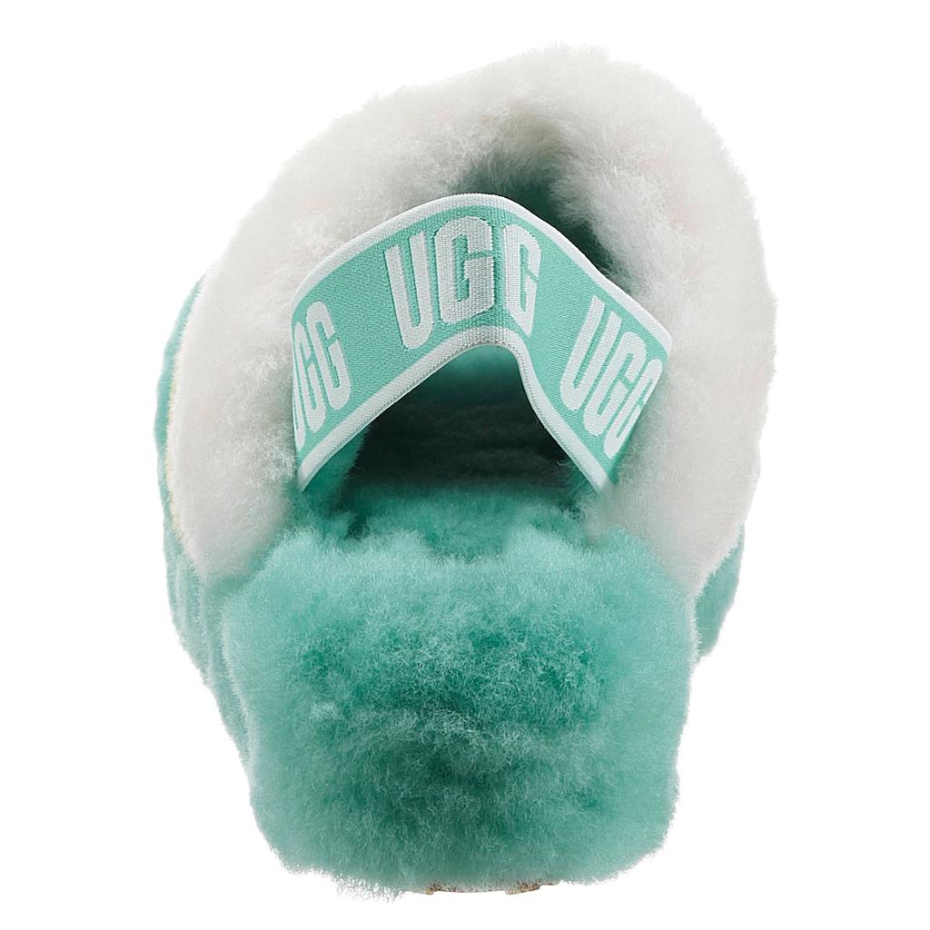 UGG Sandale »Fluff Yeah Slide«, mit Logoschriftzug