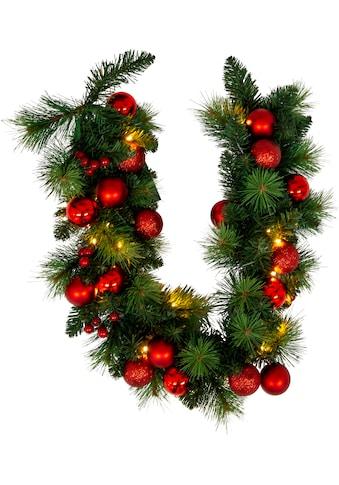 näve LED-Lichterkette »LED-Weihnachtslichterkette mit Dekoration l: 100cm - rot«, Timer kaufen
