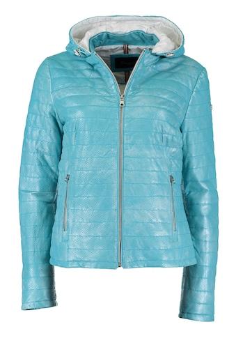 DNR Jackets Gesteppte Damen Lederjacke mit Kapuze kaufen