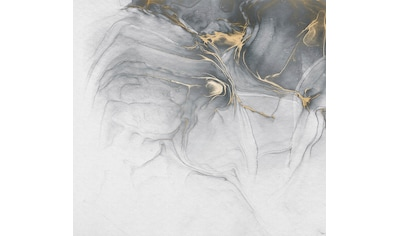 Komar Fototapete »Ink Gold Fluid«, floral-schimmernd-Silber-Optik kaufen