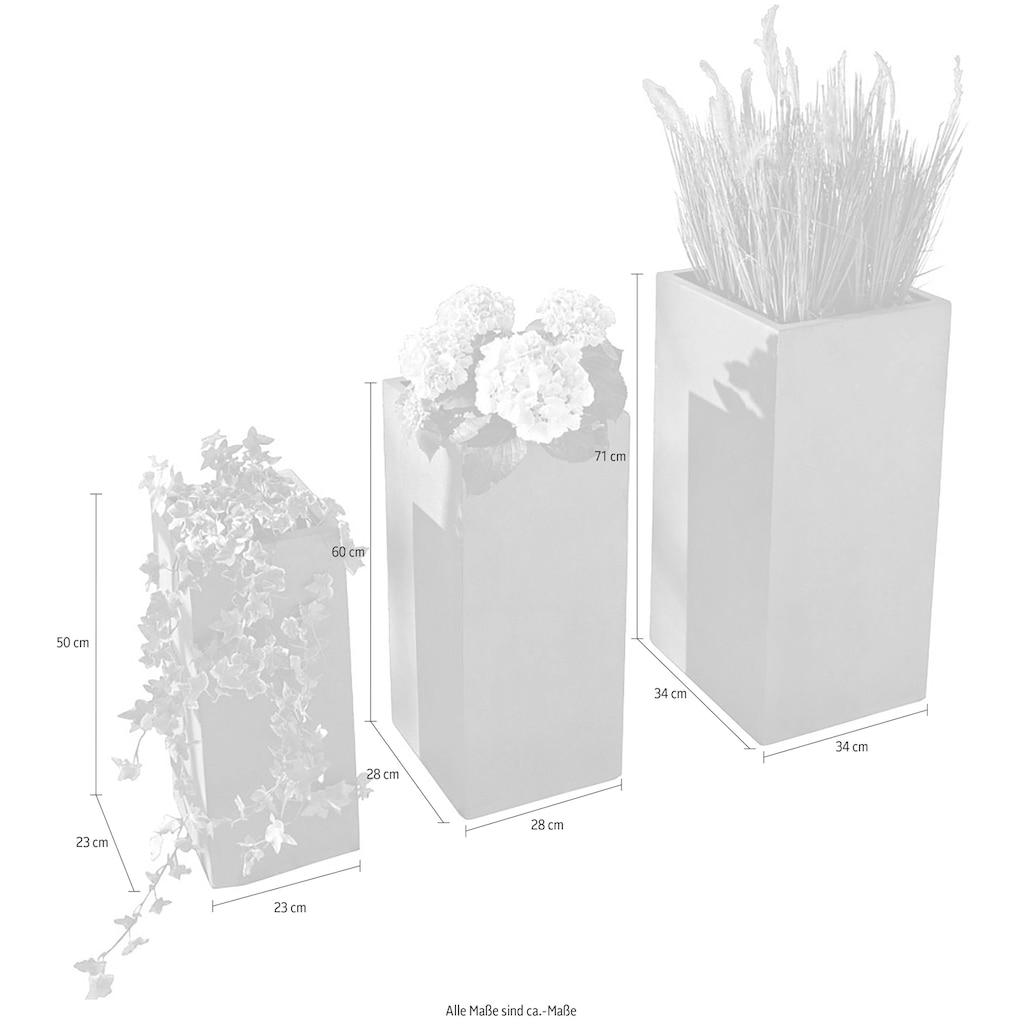 Schneider Pflanzkübel »Galileo«, Grau 3-teilig