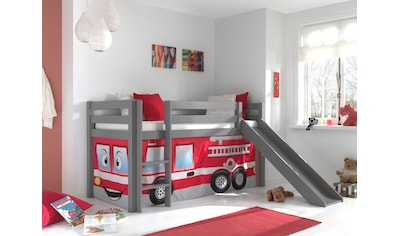 Vipack Hochbett »Pino«, mit Rolllattenrost und Vorhang-Set kaufen