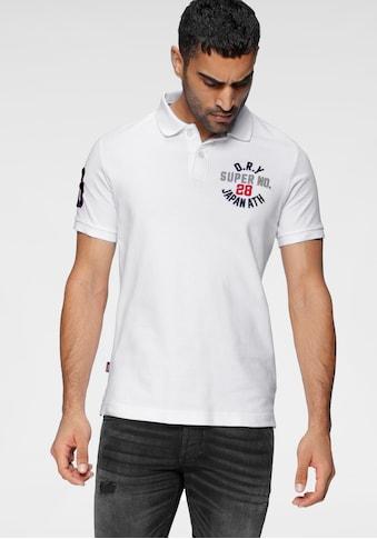Superdry Poloshirt »CLASSIC SUPERSTATE S/S POLO«, mit aufwändigen Details kaufen