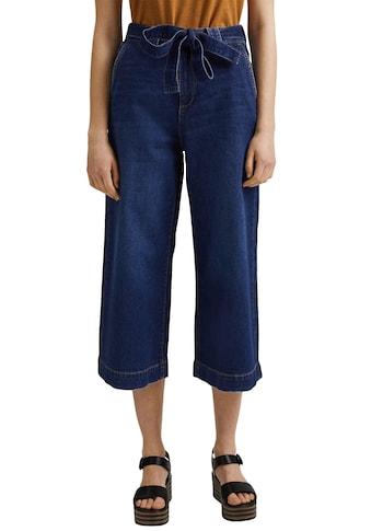 edc by Esprit Weite Jeans, mit weitem Bein und Gürtel zum Binden vorne kaufen