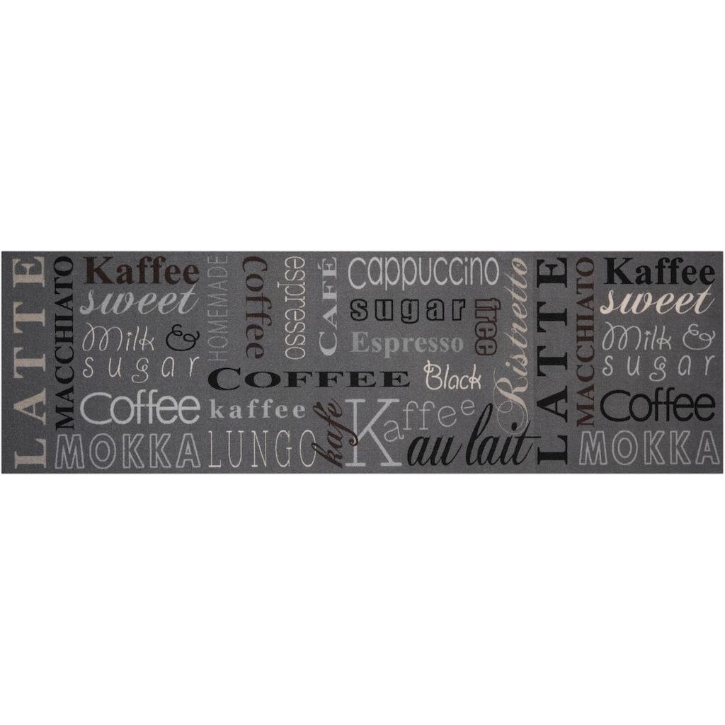 Zala Living Küchenläufer »Coffee Choice«, rechteckig, 5 mm Höhe, waschbar, rutschhemmend