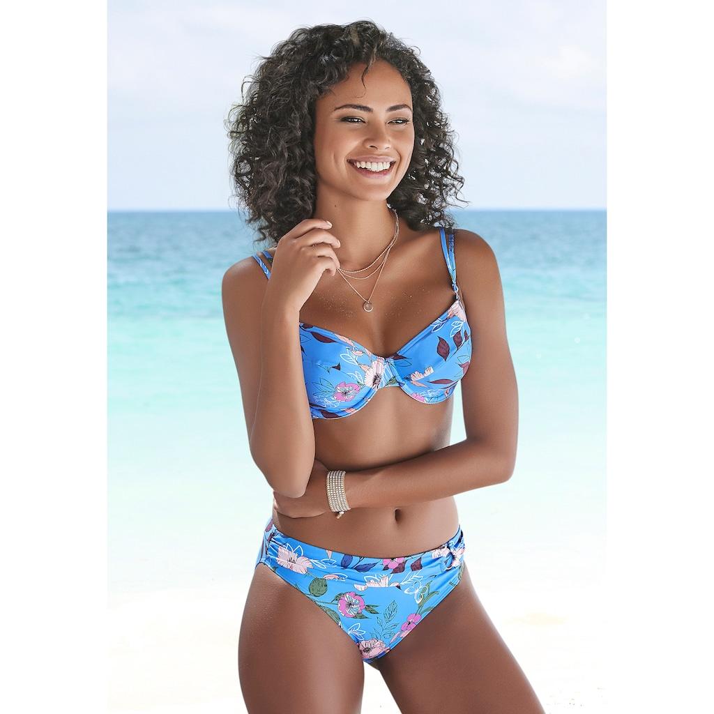 s.Oliver Bügel-Bikini-Top »Maya«, mit Doppelträgern und floralem Design