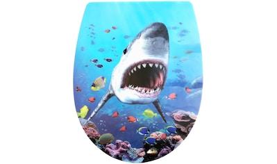 ADOB WC-Sitz »3 D Hai«, Absenkautomatik, abnehmbar kaufen