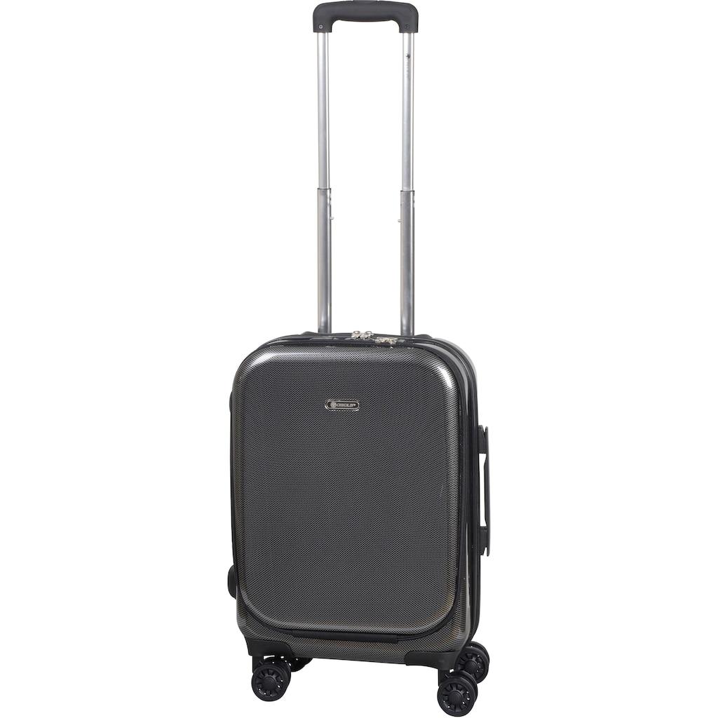 CHECK.IN® Business-Trolley »Frankfurt 3.0, 55 cm«, 4 Rollen, mit Laptopfach