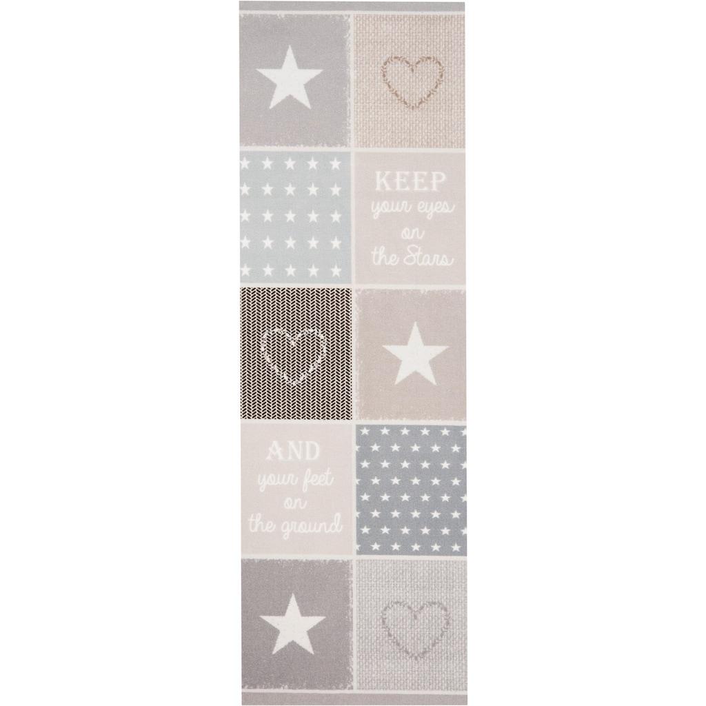 Zala Living Läufer »Patchwork Pastel«, rechteckig, 5 mm Höhe, waschbar, In- und Outdoor geeignet