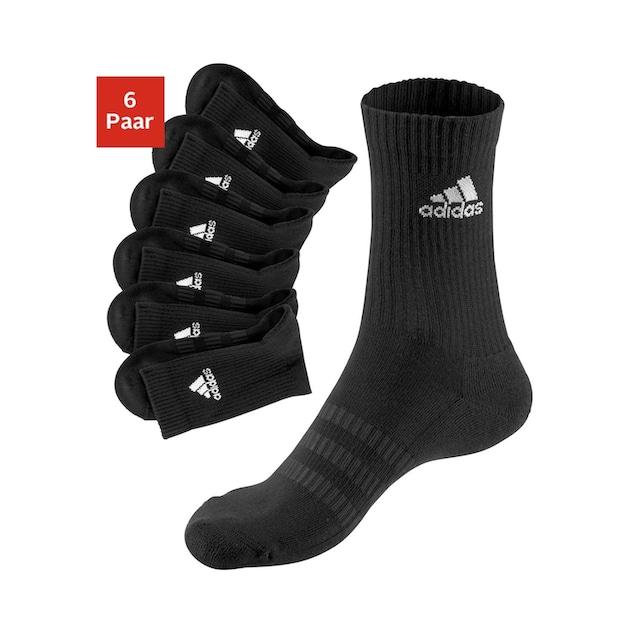 adidas Performance Tennissocken, (6 Paar), mit Fuß Polsterung