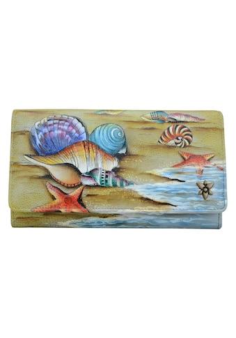 ANUSCHKA Brieftasche »Gift of the Sea aus handbemaltem Leder«, mit RFID-Blockierung kaufen