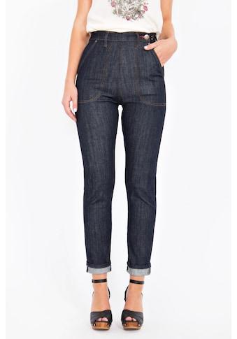 QueenKerosin Straight-Jeans »Red Selvedge«, High Waist mit Stretch kaufen