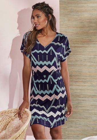 LASCANA Sleepshirt, mit grafischem Zick-Zack Muster kaufen