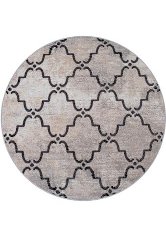 Paco Home Teppich »Artigo 411«, rund, 4 mm Höhe, Flachgewebe, In- und Outdoor... kaufen