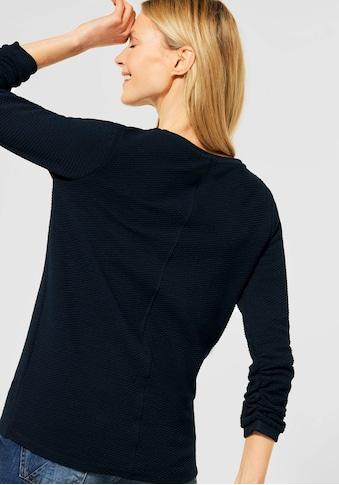 Cecil 3/4-Arm-Shirt, mit gerafften Ärmeln kaufen