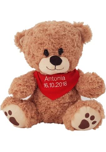 Heunec® Kuscheltier »Bär, sitzend mit rotem Halstuch«, mit individuell bestickbarem Halstuch kaufen