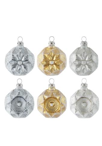 "Thüringer Glasdesign Christbaumschmuck ""White Elegance"" (6 - teilig) kaufen"