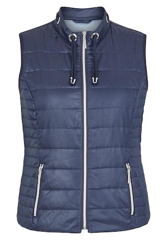 Rabe Steppweste, mit unifarbenem Stoff und Eingrifftaschen kaufen