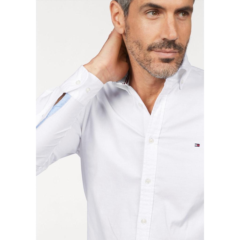 TOMMY HILFIGER Langarmhemd »CORE STRETCH SLIM OXFORD SHIRT«