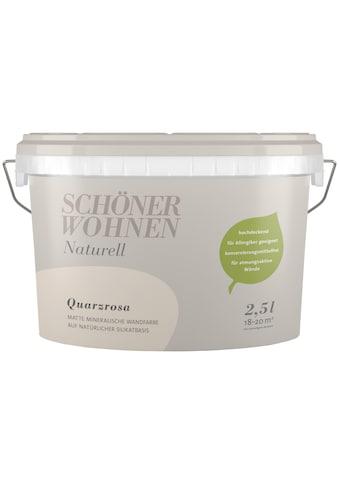 SCHÖNER WOHNEN-Kollektion Wand- und Deckenfarbe »Naturell Quarzrosa«, 2,5 l kaufen