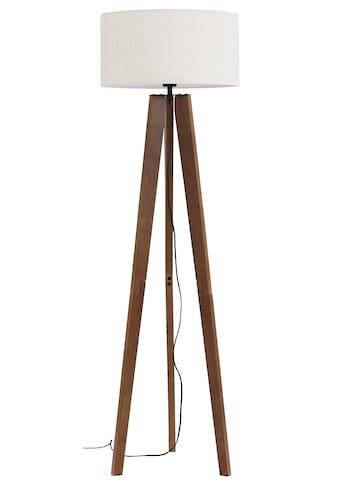 Home affaire Stehlampe »Davos«, E27, 1 St., Stehleuchte mit massivem Holz Dreibein und... kaufen