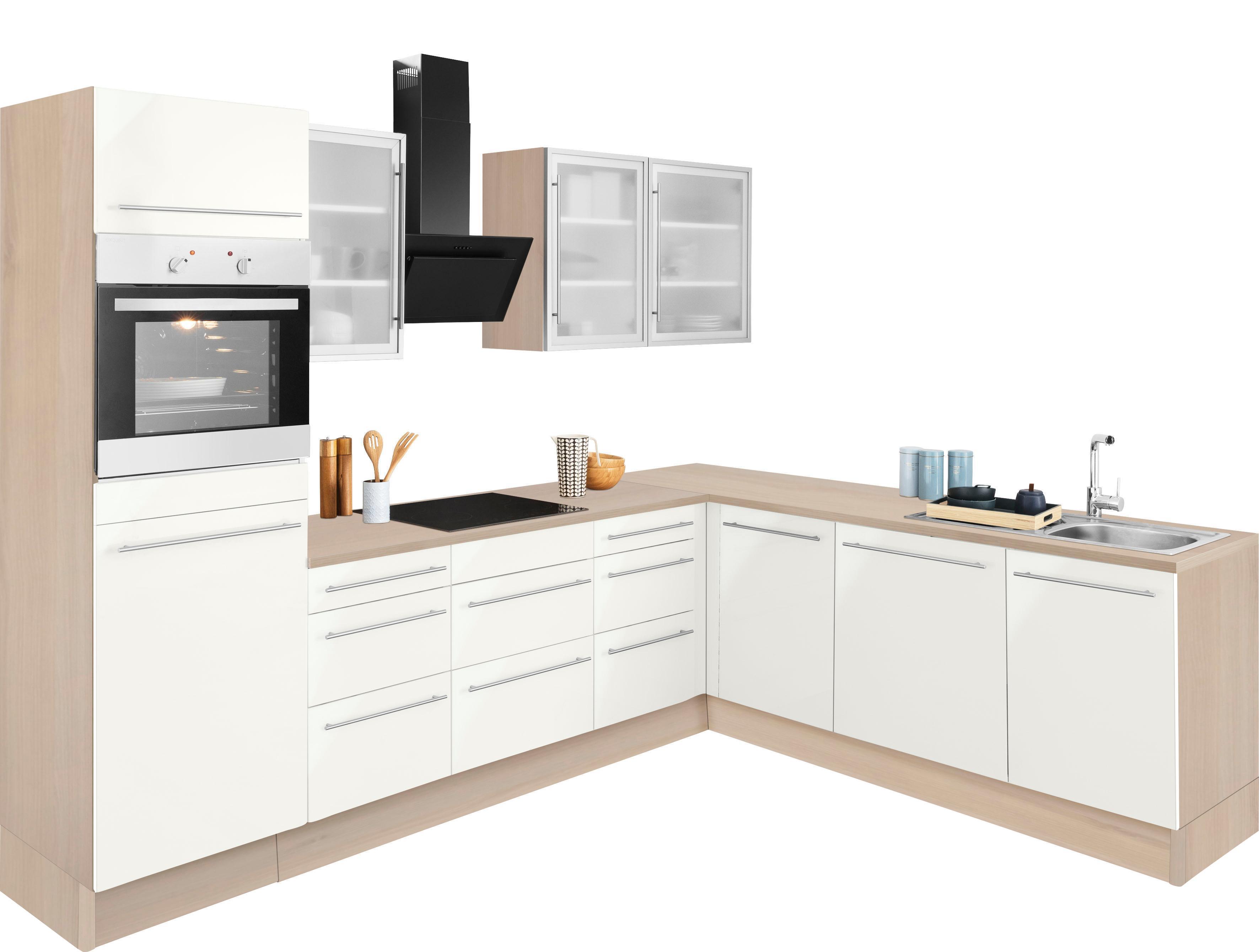 OPTIFIT Winkelküche »Bern«, mit E-Geräten, Stellbreite 285 x 225 cm | Küche und Esszimmer > Küchen > Winkelküchen | OPTIFIT