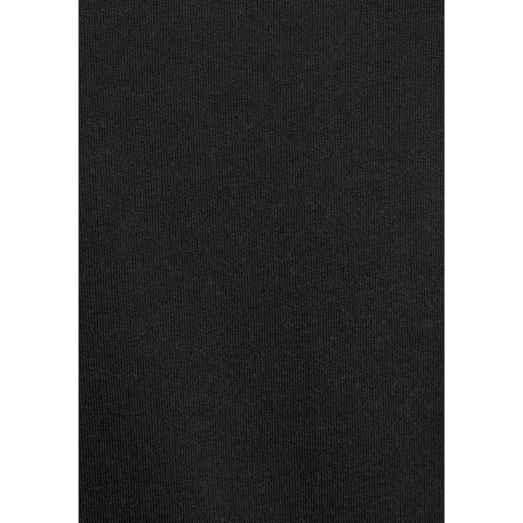 LASCANA Sweatkleid, mit Kapuze und Rippbündchen