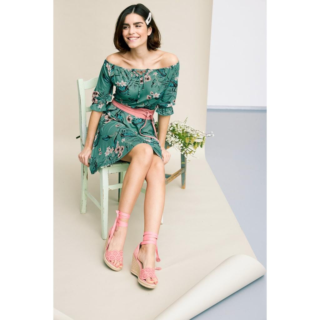 Tamaris Off-Shoulder-Kleid, mit Blumenprint - NEUE KOLLEKTION
