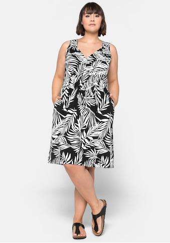 Sheego Sommerkleid, in Wickeloptik mit Taschen kaufen