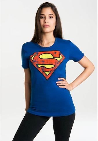 LOGOSHIRT T-Shirt »Superman-Logo«, mit lizenzierten Originaldesign kaufen