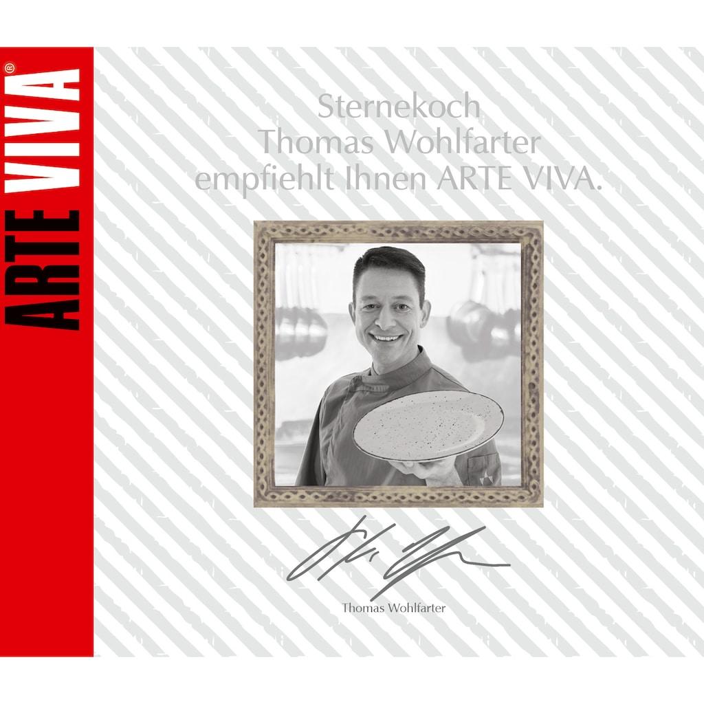 ARTE VIVA Kombiservice »Puro«, (Set, 16 tlg.), Farbset in lindgrün und grau, vom Sternekoch Thomas Wohlfarter empfohlen