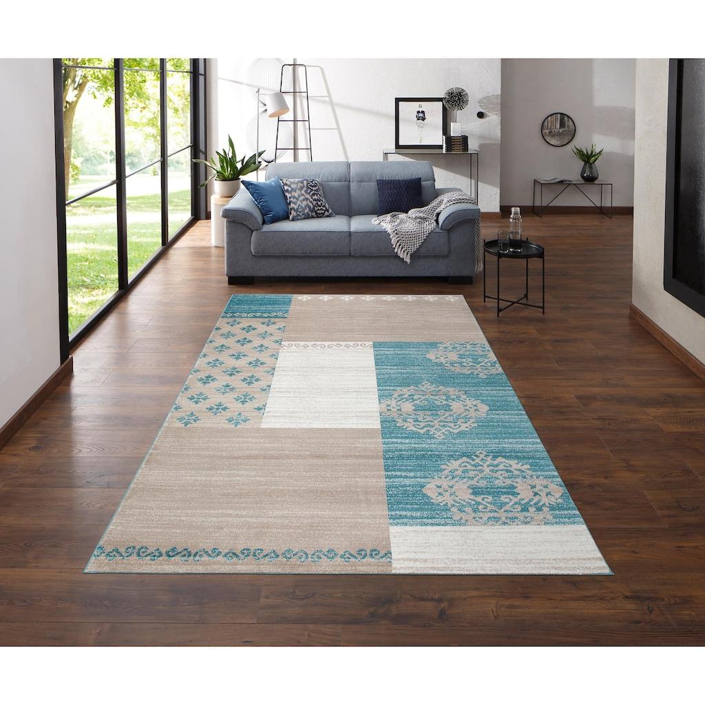 my home Teppich »Landon«, rechteckig, 11 mm Höhe, Moderne Vintage- Optik, Wohnzimmer