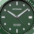 DETOMASO Quarzuhr »SAN REMO DIVER SILVER GREEN MILANESE«