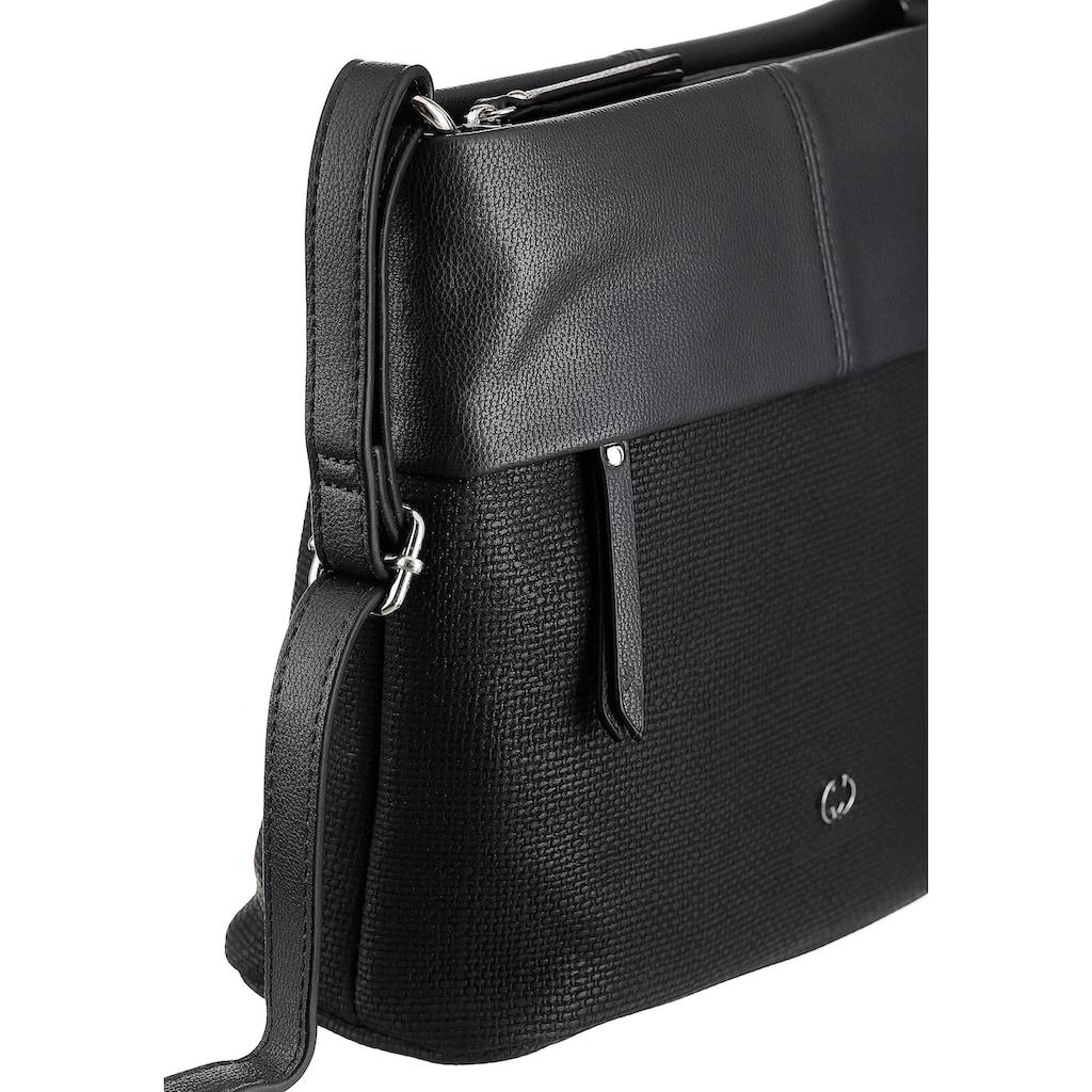GERRY WEBER Bags Umhängetasche »Keep in Mind«, in schickem Materialmix