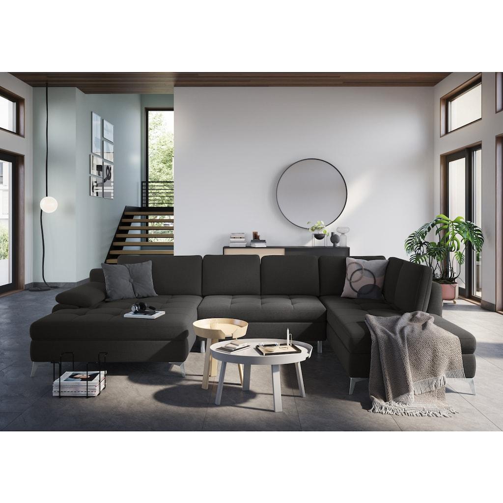 sit&more Wohnlandschaft, mit Mega-Recamiere, wahlweise mit Bettfunktion und Bettkasten