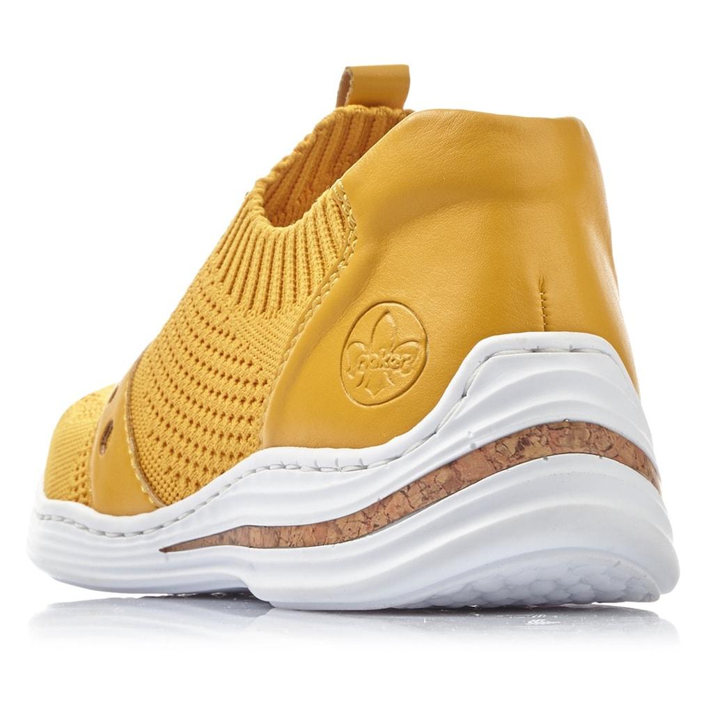 Rieker Slip-On Sneaker, mit sockenähnlichem Einstieg