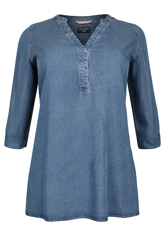 VIA APPIA DUE Legere Bluse in Jeansoptik Plus Size kaufen