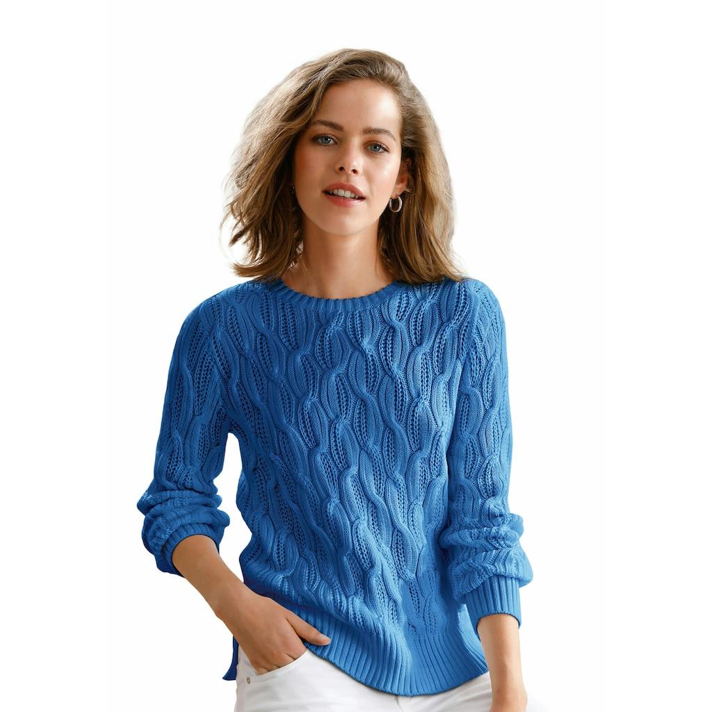 Looxent Rundhalspullover »aus 100% Supima®-Baumwolle«