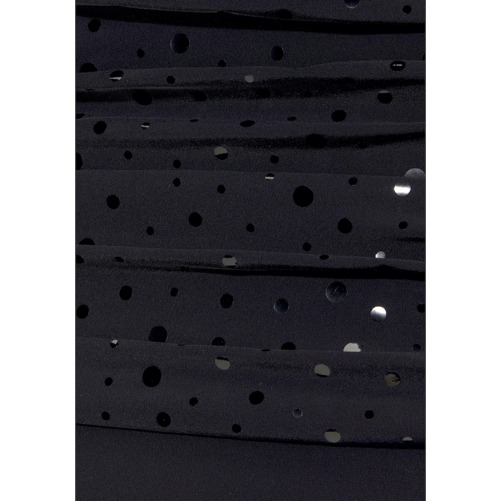 LASCANA Badeanzug, mit Pailletten-Optik