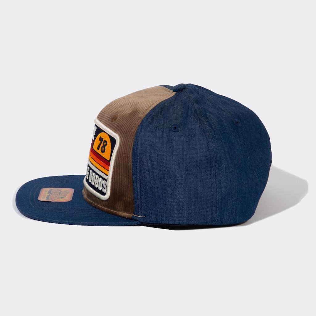 KingKerosin Snapback Cap »Ride Free«, aus Denim mit Cord-Front
