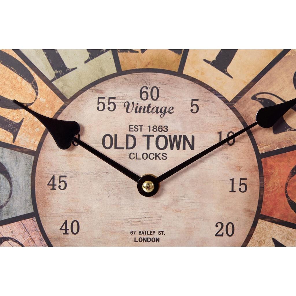 DELAVITA Wanduhr »Old Town Arabic«, rund, Ø 34 cm
