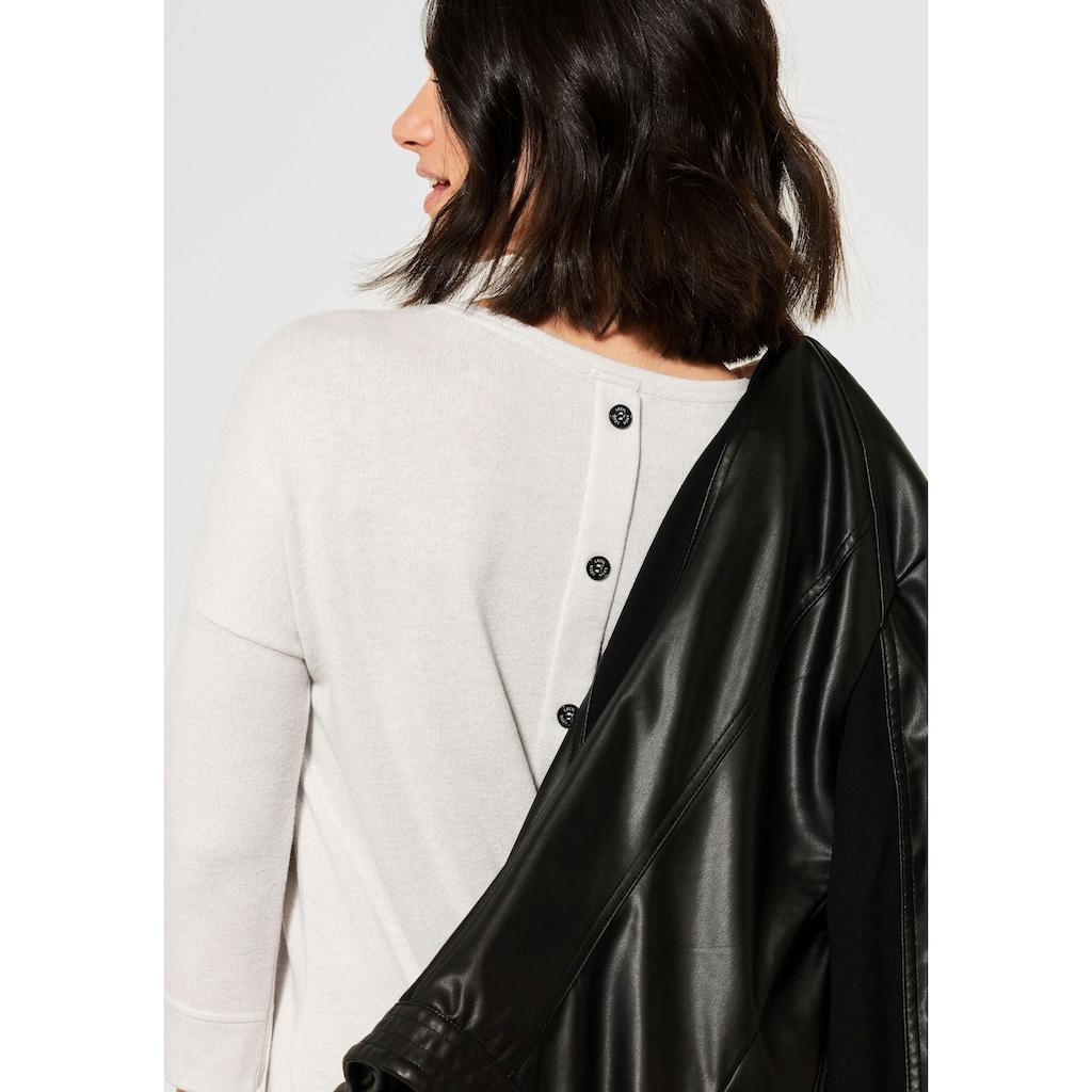 Cecil V-Shirt, mit Zierknopfleiste im Rückenteil