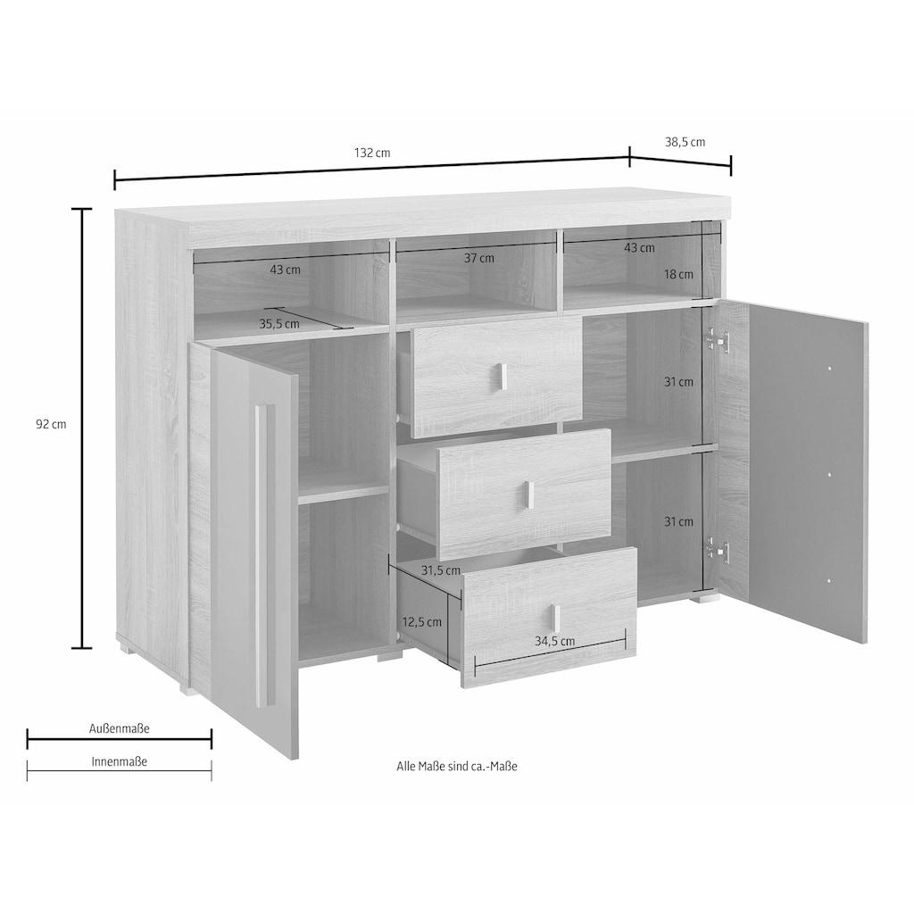 TRENDMANUFAKTUR Sideboard »Roger«, Breite 132 cm