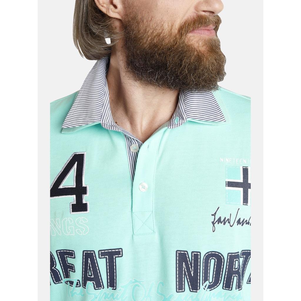 Jan Vanderstorm Poloshirt »TAADE«, mit Doppelkragen, Comfort Fit