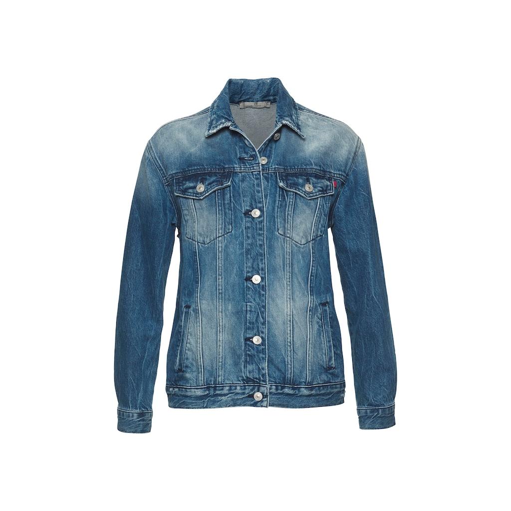 LTB Jeansjacke »Odera«, mit coolen Patches auf dem Rücken für einen rockigen Look
