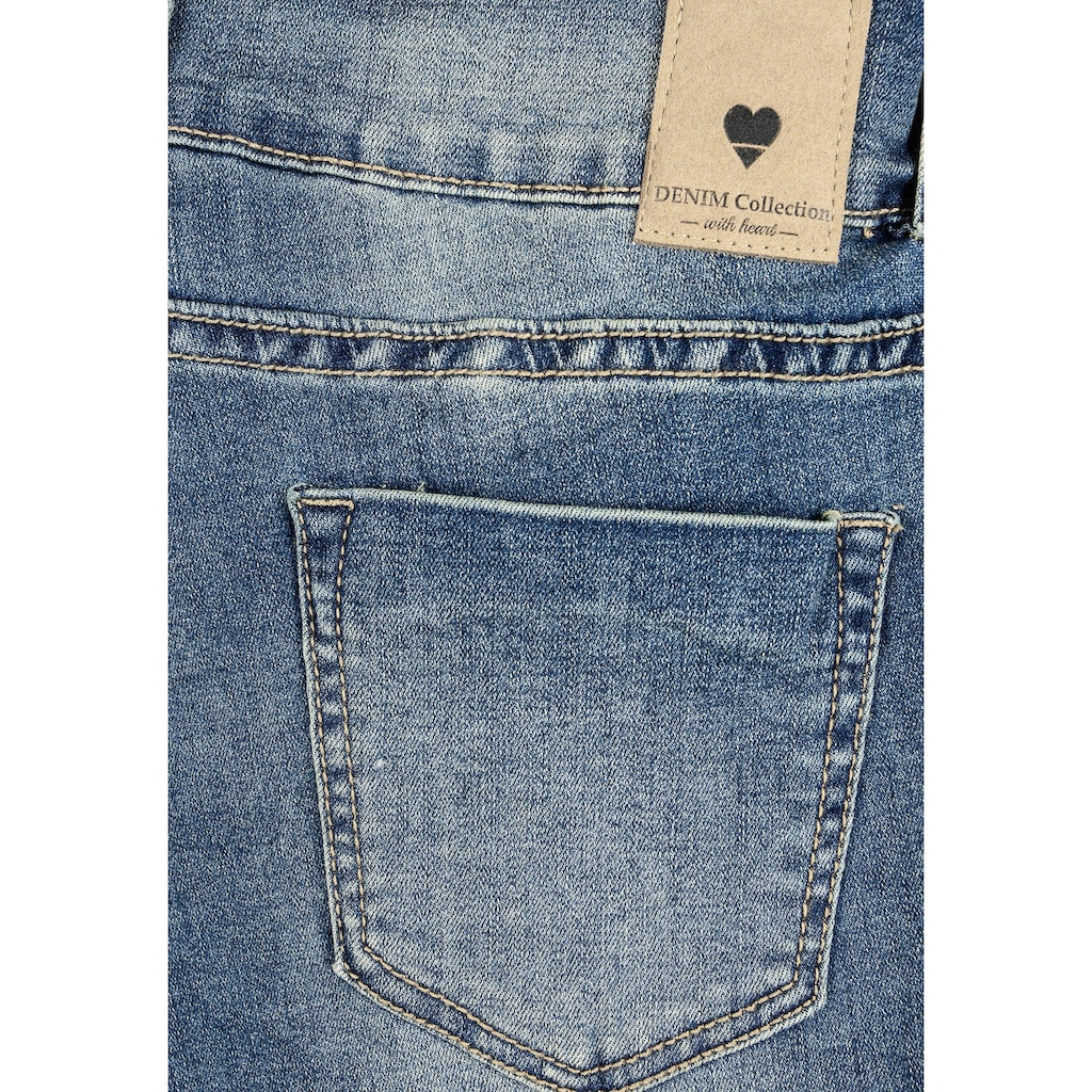 SUBLEVEL Skinny-fit-Jeans, mit Knopfdetail