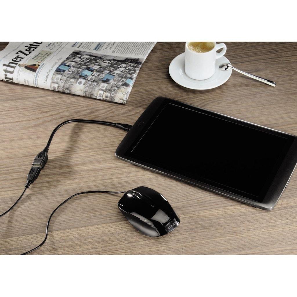 Hama USB-Kabel »f. Smartphones u. Tablets«, USB Typ A, USB 2.0 Mini-B, 15 cm, OTG, Micro USB Stecker auf USB Buchse