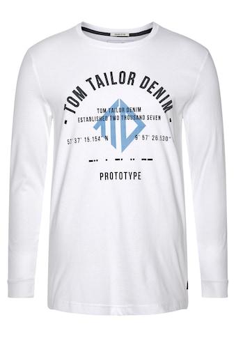 TOM TAILOR Denim Langarmshirt, mit großem Frontprint kaufen