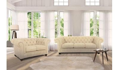 Home affaire Sitzgruppe »Duc«, Bestehend aus 2-Sitzer und 3-Sitzer, hochwertige... kaufen